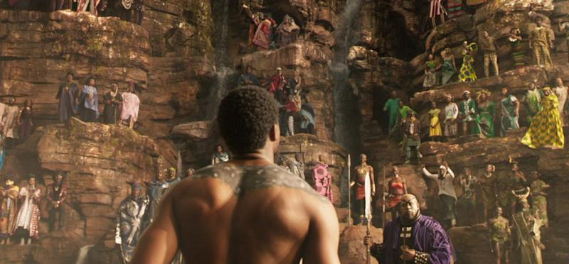Wakanda balances high-tech with the beauty of nature (credit: Marvel Studios)
