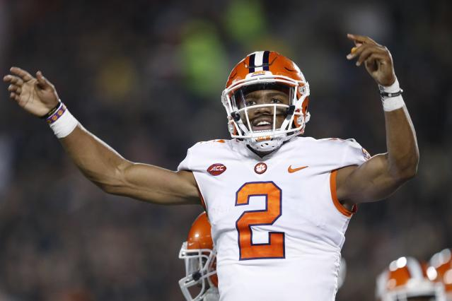 Kelly Bryant and the Tigers had plenty to celebrate during their rout of Louisville on Saturday. (Getty)