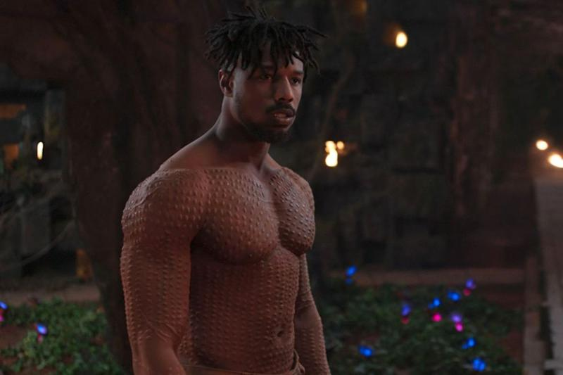 Michael B. Jordan as Killmonger in <em>Black Panther</em>