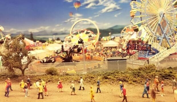The historical and fictional dioramas at Victoria's Miniature World include a small-scale model of the long-running local agricultural exhibition, the Saanich Fair. (Miniature World/ Facebook - image credit)