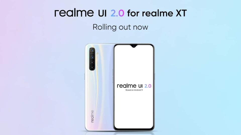 Realme XT receives Realme UI 2.0 stable update in India