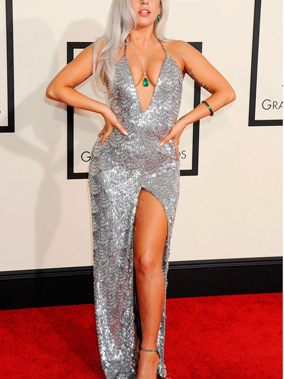 <p>Lady Gaga at the 57th Annual Grammy Awards in Los Angeles, February 2015.</p>