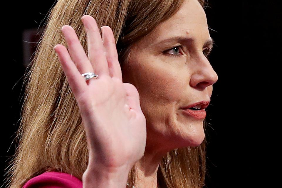 If confirmed, Judge Amy Coney Barrett will become President Donald Trump's third Supreme Court appointee in four years. (Photo: Leah Millis / Reuters)