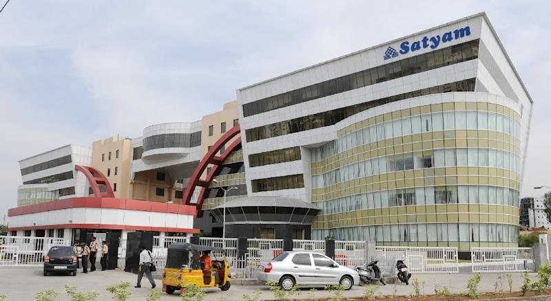 File photo of Satyam Info-City office building in Hyderabad, taken in 2009 (AFP Photo/Noah Seelam)