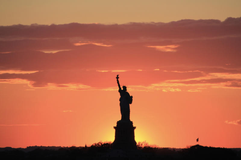 Brooklyn NYC Road Trip: Sunsetting Behind the Statue of Liberty