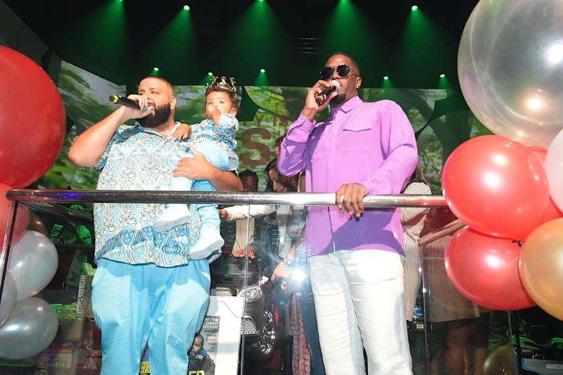 J Khaled, Son Asahd and Sean 'Diddy' Combs Celebrates Son's 1st Birthday in Miami
