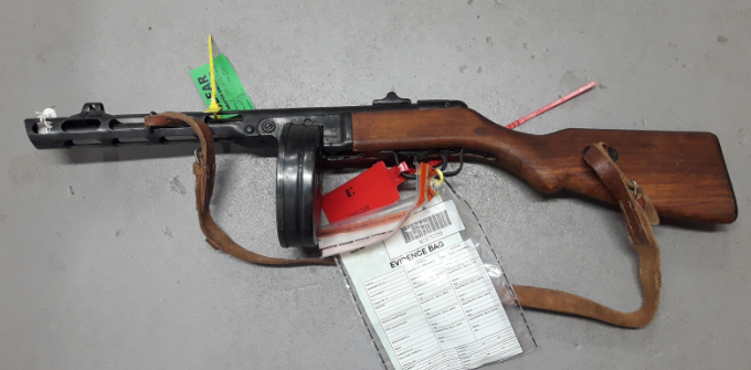 The machine gun that was handed in. (Hampshire Constabulary)