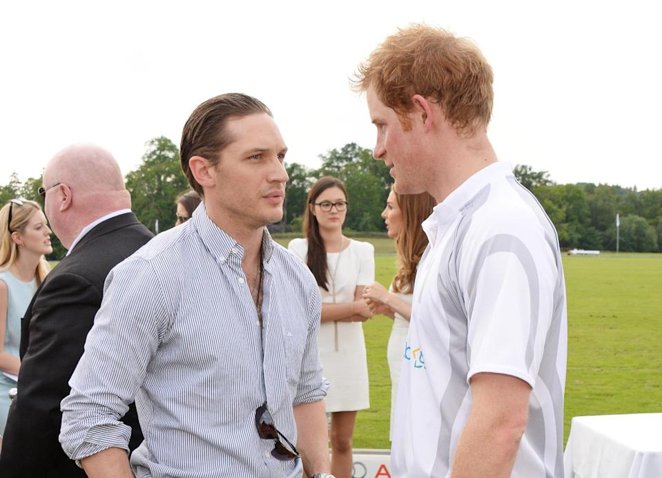 """Tom Hardy calls Prince Harry a """"f*ing legend"""" in recent interview [Photo: Getty]"""