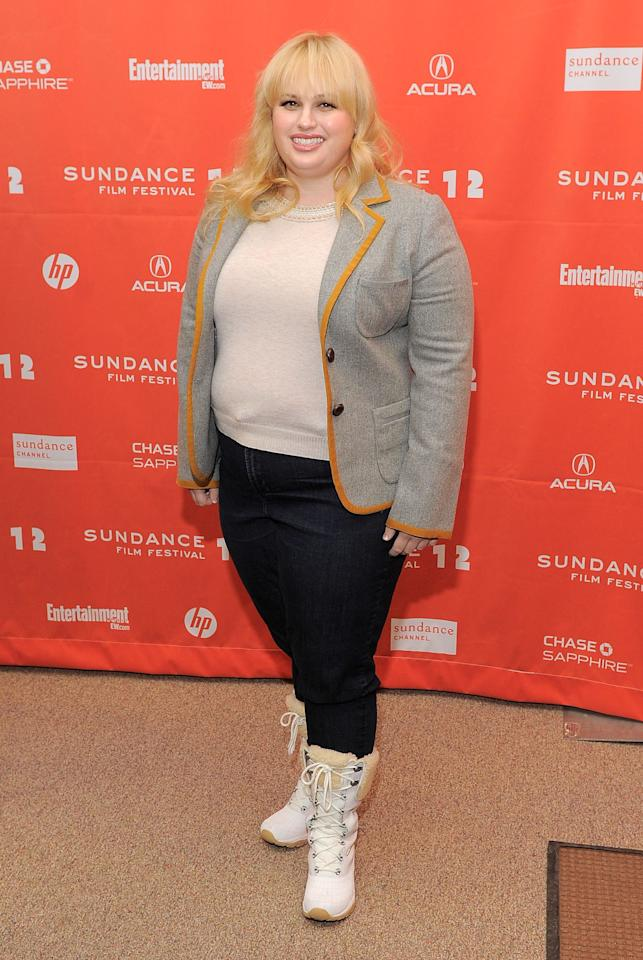"PARK CITY, UT - JANUARY 23:  Rebel Wilson attends the ""Bachelorette"" premiere during the 2012 Sundance Film Festival held at Eccles Center Theatre on January 23, 2012 in Park City, Utah.  (Photo by Jemal Countess/Getty Images)"