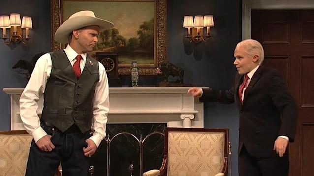 """Saturday Night Live (@nbcsnl) November 12, 2017 """"Saturday Night Live"""" skewered Alabama Senate candidate Roy Moore in the cold open with Beck Bennett's Mike Pence pleading with Mikey Day's Moore to step aside in the wake of allegations he behaved inappropriately with a 14-year-old girl."""