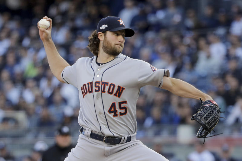 The dominance of Gerrit Cole is a big reason the Houston Astros are going to the World Series. (AP Photo/Frank Franklin II)
