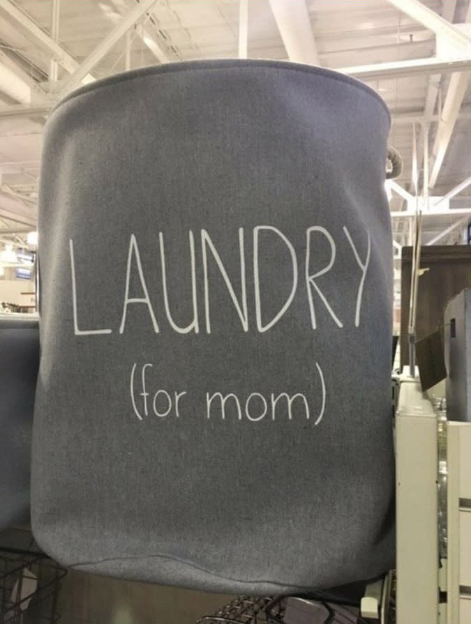 The laundry basket that drew public criticism. (Photo: Twitter)