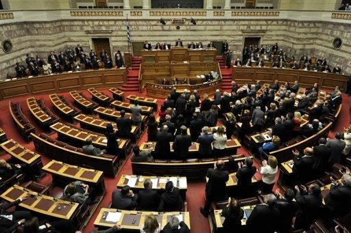 In Greek parliament, standards slip as tensions rise