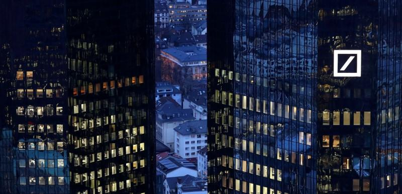 FILE PHOTO - The headquarters of Germany's Deutsche Bank are seen early evening in Frankfurt