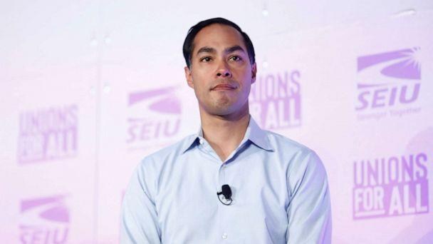 PHOTO: Democratic presidential candidate Former HUD Secretary Julian Castro attends the SEIU's Unions for All summit in Los Angeles, Oct. 4, 2019. (Eric Thayer/Reuters, FILE)