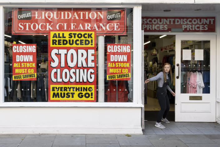 The OECD said it now expects UK GDP to shrink by 10.1% this year. Photo: Matthew Horwood/Getty Images