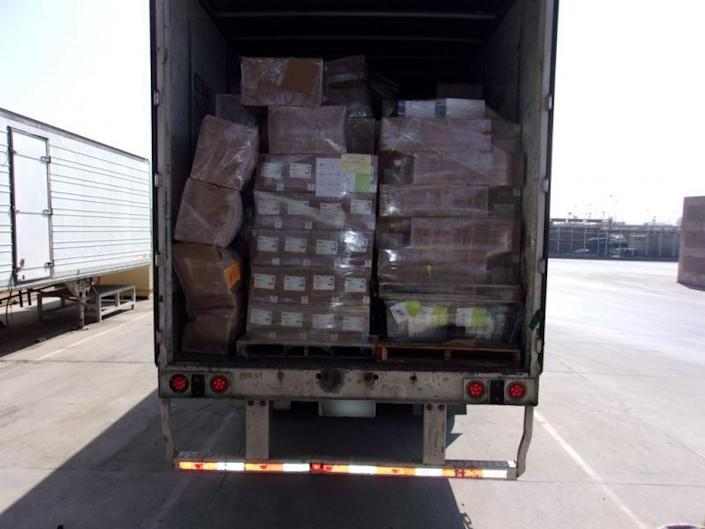 CBP officials thought the truck contained suspicious packages — and found $7.2 million worth of methamphetamine.  / Credit: U.S. Customs and Border Protection