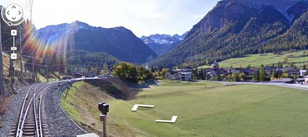 All aboard! Street View takes to the tracks to capture the Swiss Alps