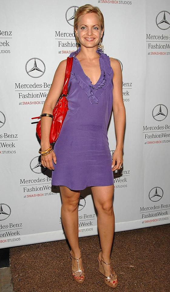 "Mena Suvari looked ready for spring in a freshly-cropped coif and cute lilac mini dress. Jean-Paul Aussenard/<a href=""http://www.wireimage.com"" target=""new"">WireImage.com</a> - March 12, 2008"