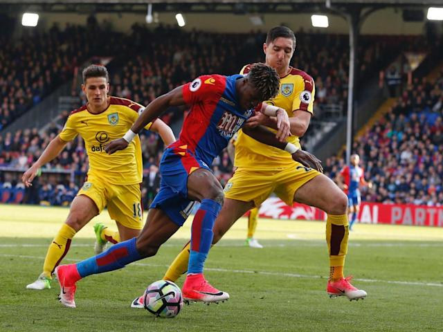 Zaha was ruled offside when replays showed he was level (Getty)