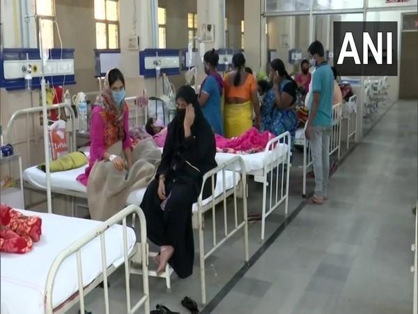 Visuals from Government Fever Hospital in Hyderabad. (Photo/ANI)