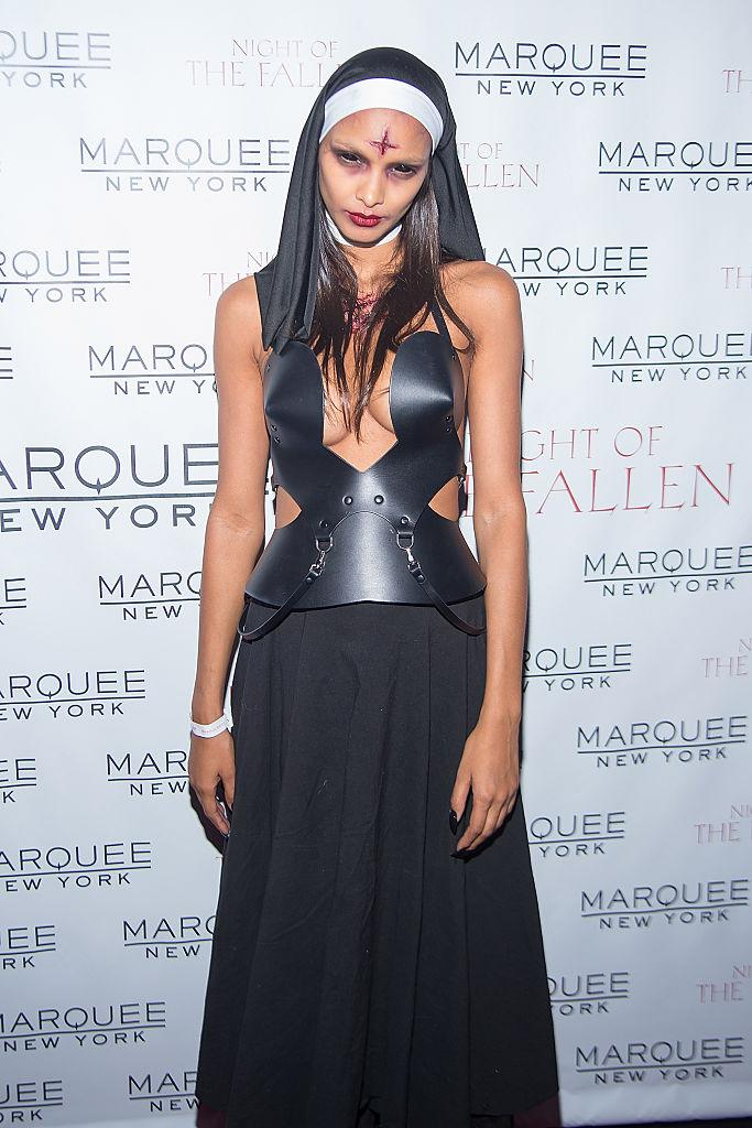 Lais Ribeiro as a scary nun (Photo: Getty Images)