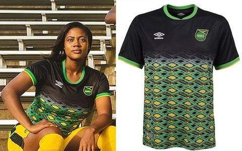 Jamaica away kit, 2019 Women's World Cup - Credit: UMBRO