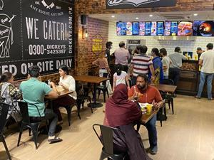 Dickey's Barbecue Pit is open in Lahore Pakistan. The 2,300 square foot restaurant is open from 11am until midnight. The Texas Style barbecue restaurant features Short Ribs, Lamb Shank and Beef Sausages.