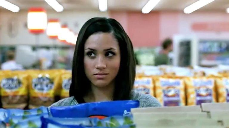 """<p>YUP. Back in 2009, before Meghan Markle was even Rachel Zane on Suits and long before she was a member of the royal family, she <a href=""""https://www.marieclaire.com/celebrity/a19642242/meghan-markle-tostitos-chips-commercial/"""" target=""""_blank"""">starred in a Tostitos commercial</a>. The commercial was called """"3 Ingredients"""" and starred Markle as a grocery shopper pondering which chips to buy for a get-together with friends. Watch the spot <a href=""""https://www.youtube.com/watch?v=t-sWa517Yh4"""" target=""""_blank"""">here</a>.</p>"""