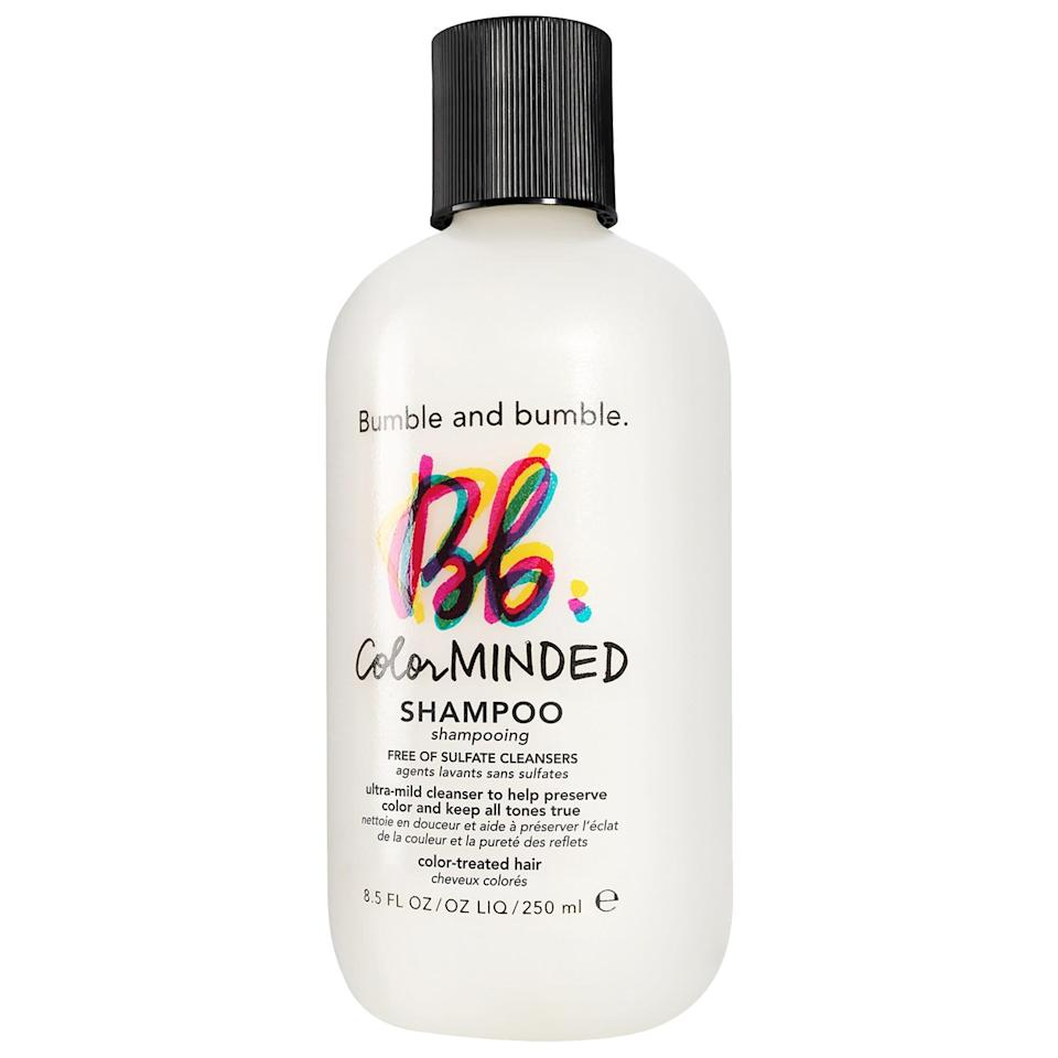 <p>Ensure your color stays vibrant with the <span>Bumble and Bumble Color Minded Shampoo</span> ($31). It's ultra-mild to prevent fading so you can visit the salon less often.</p>