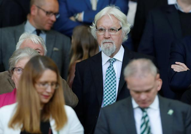 Soccer Football - Scottish Premiership - Celtic vs Aberdeen - Celtic Park, Glasgow, Britain - May 13, 2018 Sir Billy Connolly in the crowd after the match REUTERS/Russell Cheyne