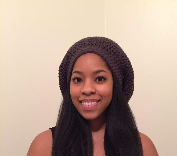If you've got locs, braids, or long hair, <span>this sheer lined beanie</span> is sturdy and big enough to not disrupt any style.