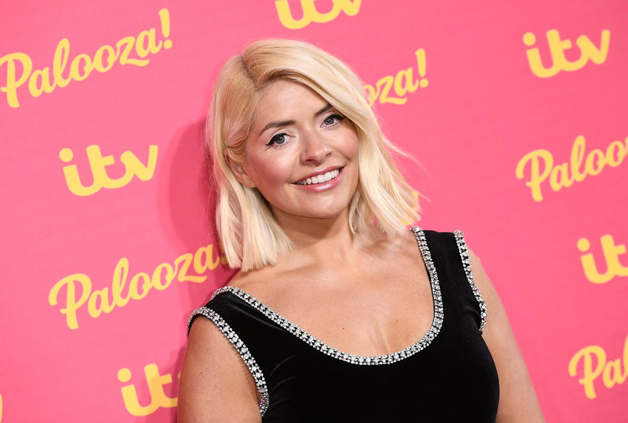 LONDON, ENGLAND - NOVEMBER 12:  Holly Willoughby attends the ITV Palooza 2019 at the Royal Festival Hall on November 12, 2019 in London, England. (Photo by Jeff Spicer/Getty Images)
