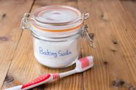 """Someone always stealing your toothpaste? Then it might be time to use the Mason jar organization method. A <a rel=""""nofollow noopener"""" href=""""http://www.agirlandagluegun.com/2013/06/toothbrush-organizers.html"""" target=""""_blank"""" data-ylk=""""slk:Girl & A Glue Gun"""" class=""""link rapid-noclick-resp"""">Girl & A Glue Gun</a> recommends keeping each family member's bathroom items — like their toothbrush, toothpaste, floss… you name it! — separated in personalized jars on the bathroom counter. Nothing will ever go missing again."""