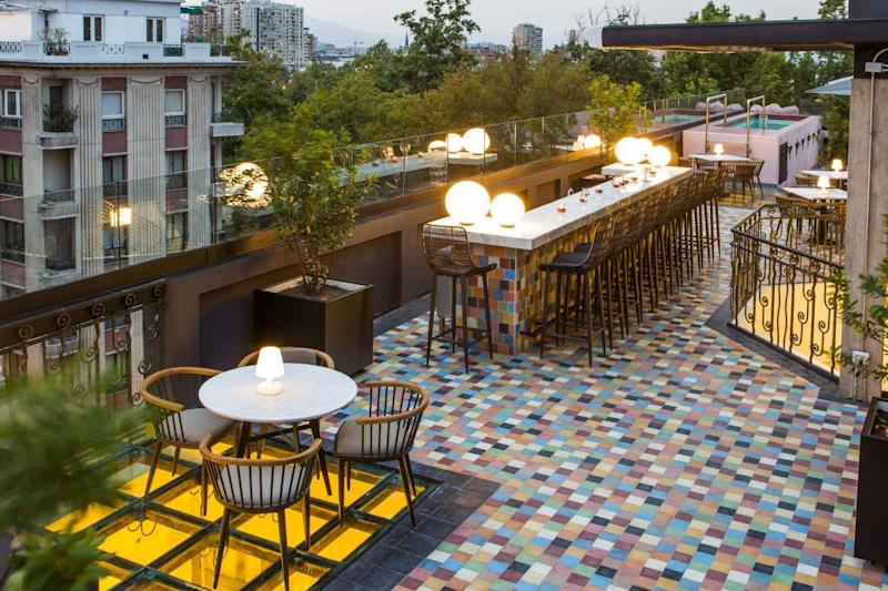 The rooftop at Luciano K in Santiago