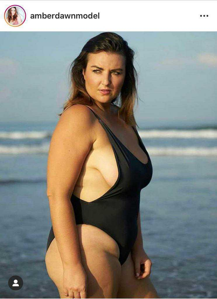 Farmer Wants a Wife contestant Amber Gwynne poses in swimsuit at the beach