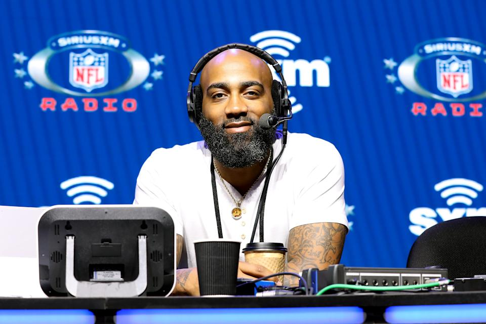 DeAngelo Hall speaks with SiriusXM at Super Bowl LIV.