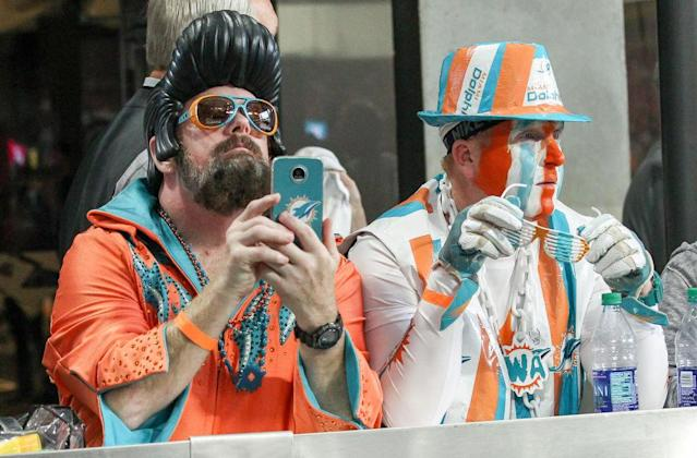 Dolphins fans. (Getty)