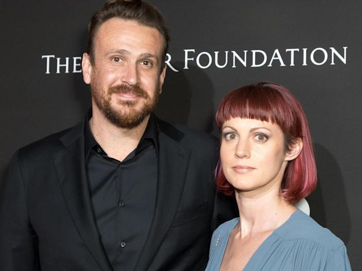 Jason Segel and Alexis Mixter in January 2018