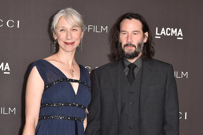 LOS ANGELES, CALIFORNIA - NOVEMBER 02: Alexandra Grant and Keanu Reeves attend the 2019 LACMA Art + Film Gala at LACMA on November 02, 2019 in Los Angeles, California. (Photo by David Crotty/Patrick McMullan via Getty Images)