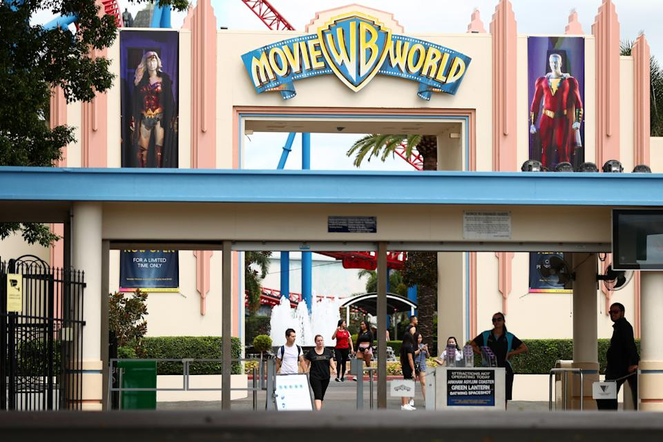 Movie World entry on March 17, 2020 in Gold Coast, Australia.