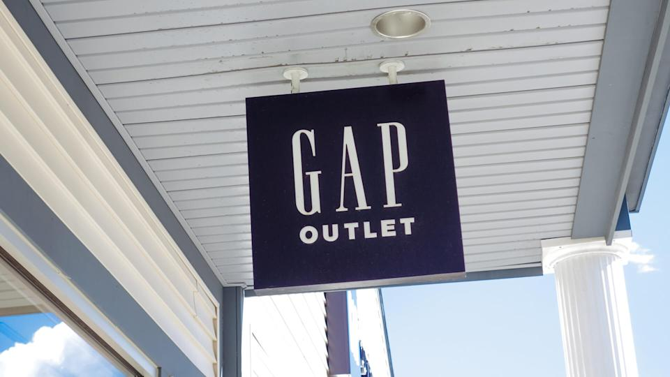 Kittery, Maine, USA 09 24 2012: Sign with old Gap Inc.