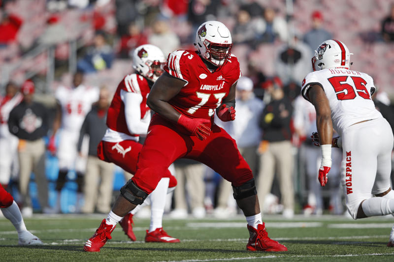 Mekhi Becton might actually block out a portion of the sun. (Getty Images)