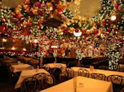 """<p>Each year, German restaurant <a href=""""http://rolfsnyc.com/www.rolfsnyc.com/Welcome.html"""" rel=""""nofollow noopener"""" target=""""_blank"""" data-ylk=""""slk:Rolf's"""" class=""""link rapid-noclick-resp"""">Rolf's</a> gets absolutely covered in decorations come Christmas time. The holiday wonderland can be mobbed at all hours, so stopping in just for a glass of mulled wine or some egg nog might be the best move. </p><p><em>281 Third Avenue</em><em>. </em><br></p>"""