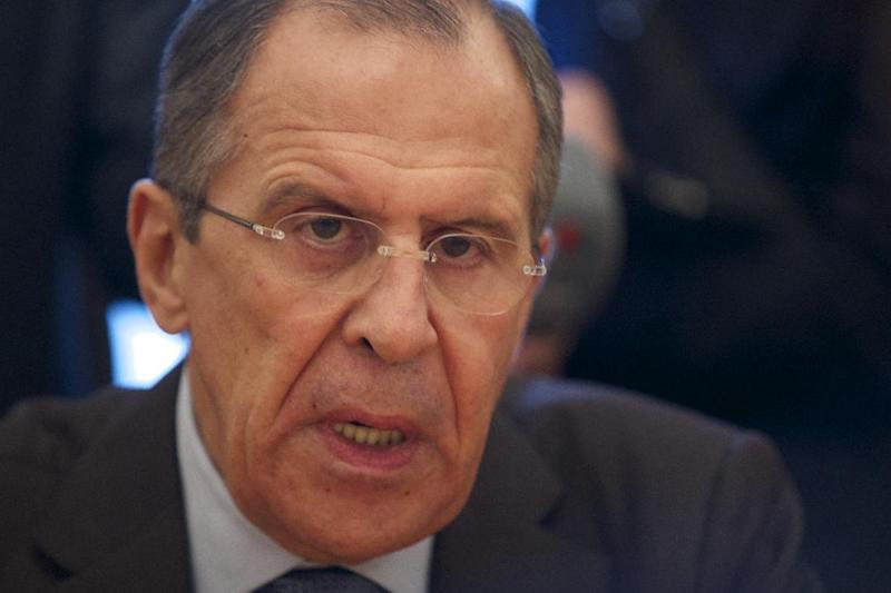 Russian Foreign Minister Sergey Lavrov speaks during his meeting with Syria's Deputy Foreign Minister Faisal Mekdad, in Moscow, Tuesday, Nov. 19, 2013. Russia's foreign minister says the Syrian opposition has accepted an offer to visit Moscow for talks. Sergei Lavrov told Tuesday's briefing that the Syrian National Coalition had agreed to attend the talks with other Syrian opposition groups in Moscow. The coalition is Syria's main Western-backed opposition group. (AP Photo/Ivan Sekretarev)