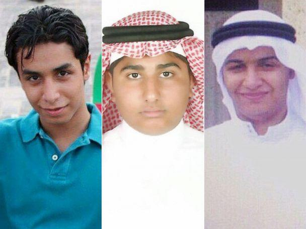 PHOTO: Ali al-Nimr, Abdullah al-Zaher and Dawood al-Marhoon, are pictured in undated handout photos. They have all been sentenced to death in Saudi Arabia. (Family Photos via Reprieve)