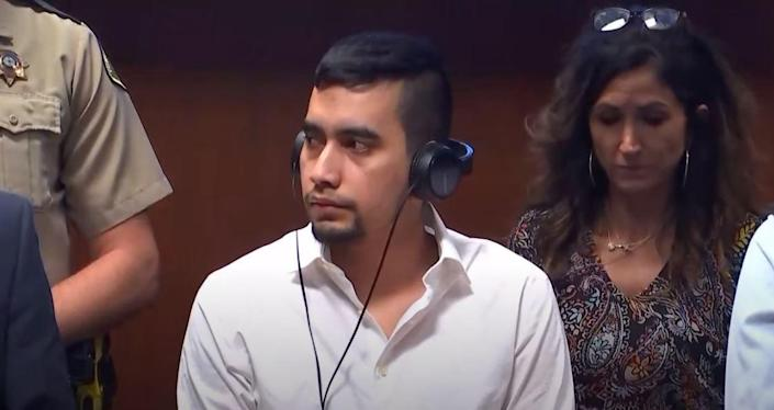 Cristhian Bahena Rivera hears the verdict of guilty on the charge of murder in the first degree in the killing of University of Iowa student Mollie Tibbetts on Friday, May 28, 2021, at the Scott County Courthouse in Davenport, Iowa.