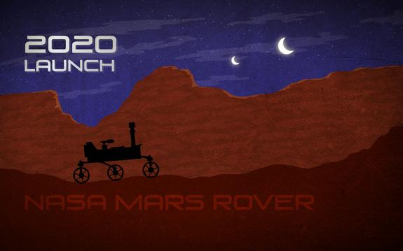 This NASA artist concept for the agency's 2020 Mars rover is loosely based on the Curiosity rover in the Mars Science Laboratory mission.