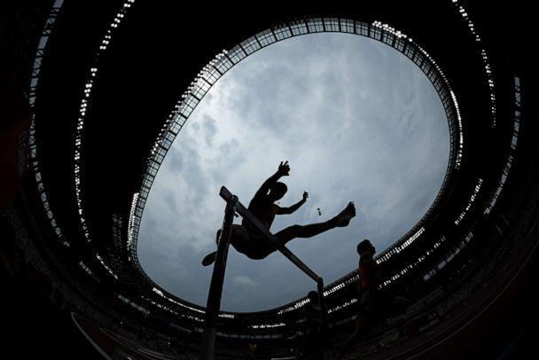 PHOTO: Constantin Preis of Team Germany competes during round one of the Men's 400m hurdles heats on day seven of the Tokyo 2020 Olympic Games at Olympic Stadium on July 30, 2021 in Tokyo, Japan. (Matthias Hangst/Getty Images)