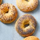 """<p>Bagels and coffee are already a perfect pairing, but these no-boil bagels might be better than any you can find at the store. They're also surprisingly high in protein, with 10 filling grams—not to mention only 185 calories—a pop.</p><p><strong><em><a href=""""https://www.prevention.com/food-nutrition/recipes/a34204913/easiest-ever-bagels-recipe/"""" rel=""""nofollow noopener"""" target=""""_blank"""" data-ylk=""""slk:Get the recipe »"""" class=""""link rapid-noclick-resp"""">Get the recipe »</a></em></strong></p>"""